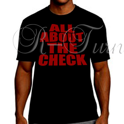 ALL ABOUT THE CHECK RED ON BLK